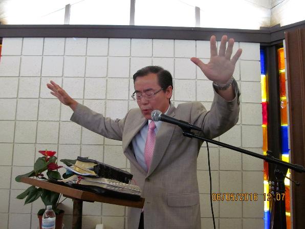 2016년 제직수련회 때 축도해 주신 류준영 목사님