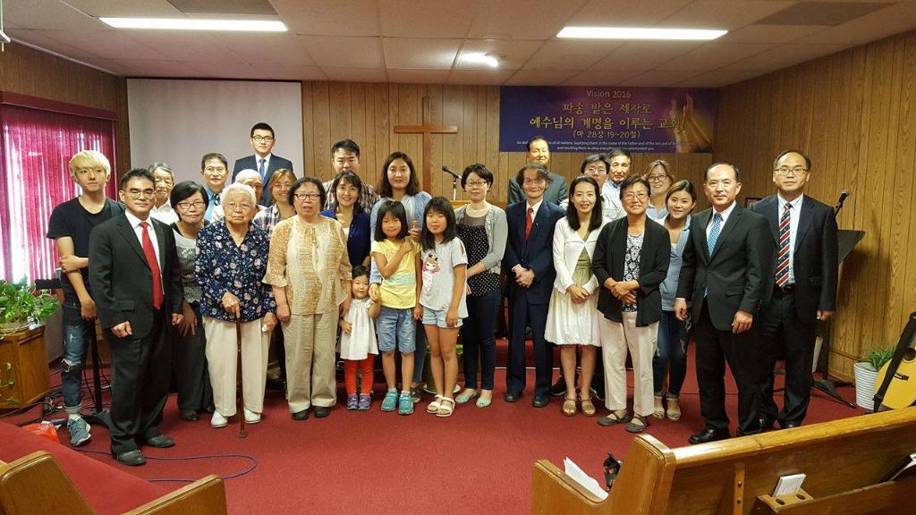 2016년 10월 9일 글린데일 한인교회와의 연합예배 기념사진.